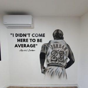 ציור על קיר בחדר ילדים מייקל ג'ורדן